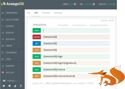 ArangoDB NoSQL database Foxx Web UI