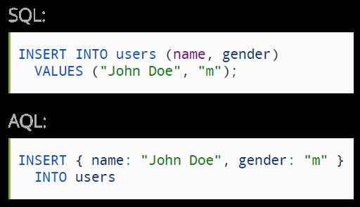 请查阅 SQL / AQL的对比