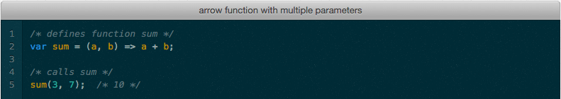 Arrow function from ES6