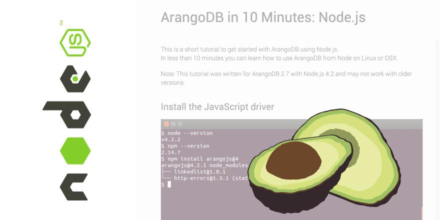 tutorial arangodb node