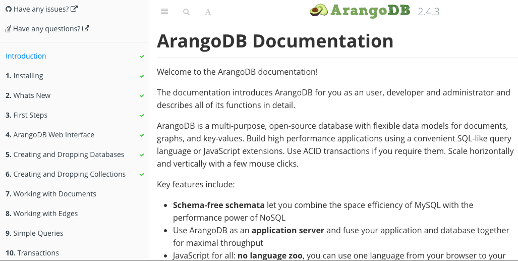 arangodb manual screenshot 2015