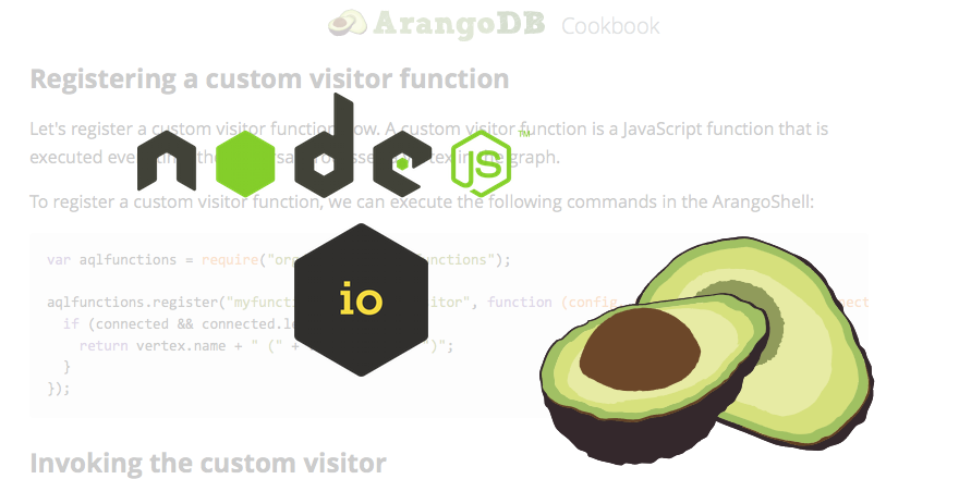 node js io using nosql db arangodb with javascript
