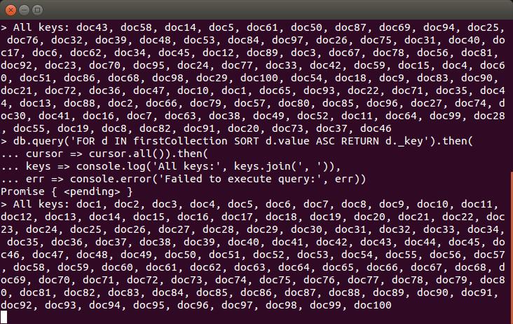 ArangoDB tutorial Node.js
