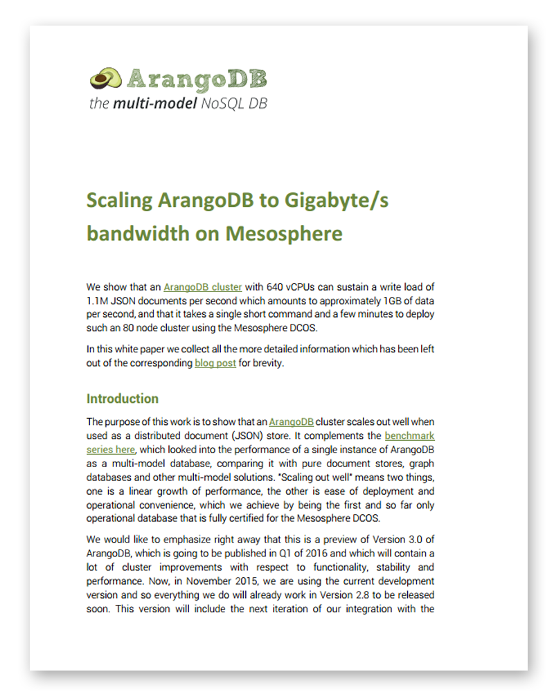 ArangoDB white papers