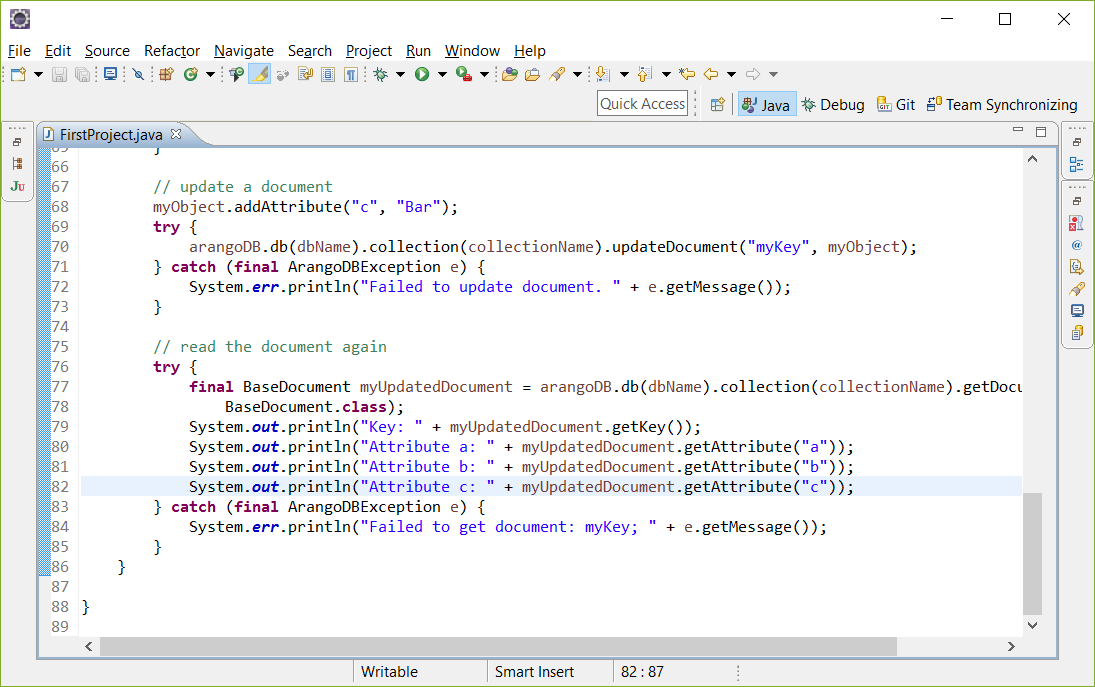 ArangoDB Tutorial sync Java
