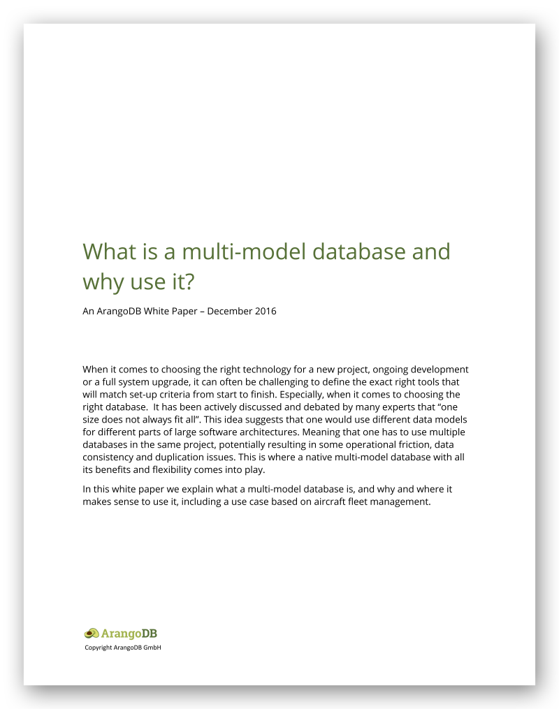 White Paper What is a Multi-model Database and Why Use It?