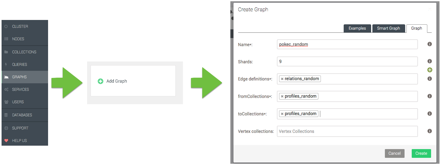Using SmartGraphs in ArangoDB