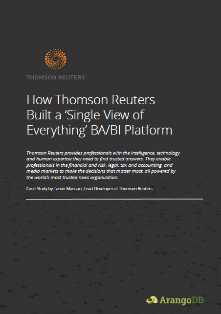 Thomson Reuters and ArangoDB Case Study cover