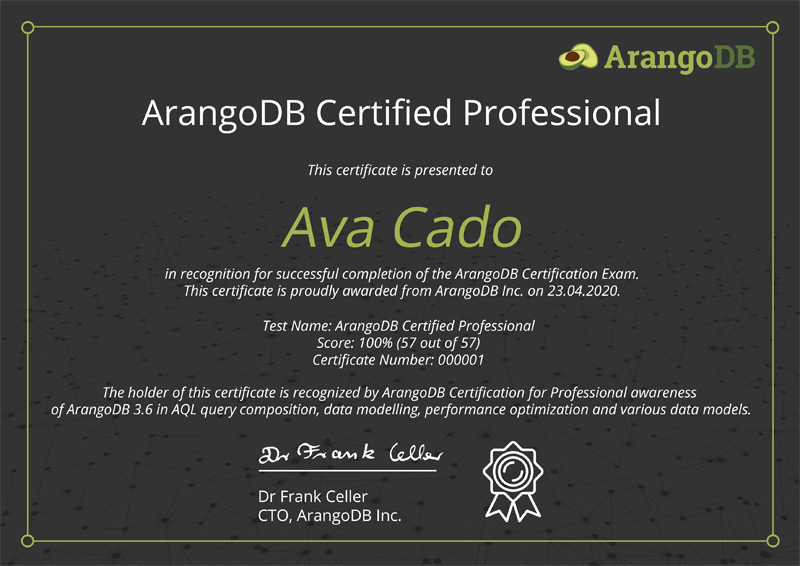 ArangoDB Certified Professional