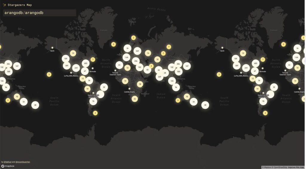 ArangoDB Stargazer Map