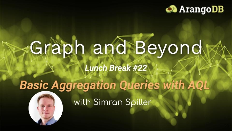 basic aggregation queries with AQL